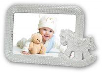Verzilverde Fotokader Baby Irene