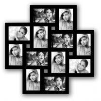Multi Fotokader Milano 12x 10x15 Zwart
