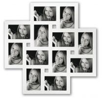 Multi Fotolijst Milano 12x 10x15 Wit