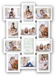 Witte Multi-Fotokader voor 12 foto's van 10x15 cm