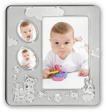 Verzilverde Fotokader Baby Thomas