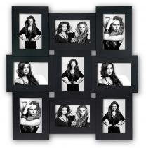 Multi-Fotokader Vicenza 9x 10x15 Zwart