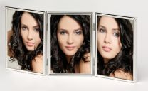 Fotokader verzilverd Chloe3 3x 10x15cm