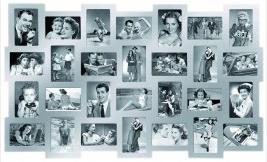 Multi fotokader zilver 28 foto's